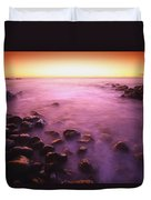 Sunset Over Water, Hawaii, Usa Duvet Cover