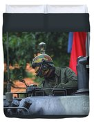 Tank Commander Of A Leopard 1a5 Mbt Duvet Cover