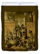 The Art Of Brewing, Babylon Duvet Cover by Science Source