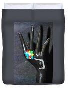 The Black Hand Duvet Cover