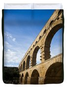 The Famous Pont Du Gare In France Duvet Cover