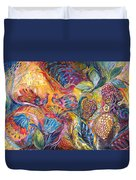 The Flowers And Fruits Duvet Cover