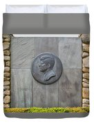 The John F. Kennedy Memorial At Veterans Memorial Park In Hyanni Duvet Cover