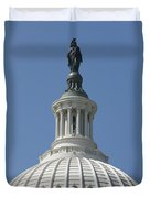 The United States Capitol Building Dome Duvet Cover