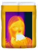 Thermogram Of A Girl Duvet Cover