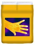 Thermogram Of A Hand Duvet Cover