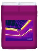 Thermogram Of Steam Pipes Duvet Cover