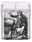 Thomas Paine, American Founding Father Duvet Cover by Photo Researchers