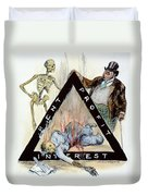 Triangle Factory Fire Duvet Cover