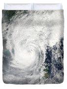 Typhoon Megi Duvet Cover