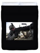 U.s. Army Soldier Provides Security Duvet Cover