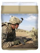U.s Army Specialist Provides Security Duvet Cover