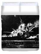 Uss Shaw, Pearl Harbor, December 7, 1941 Duvet Cover