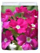 Verbena From The Ideal Florist Mix Duvet Cover