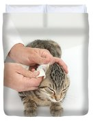 Vet And Kitten Duvet Cover