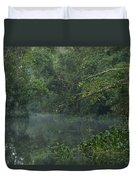 View Of The Menangul River And Rain Duvet Cover