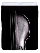 Violin Isolated On Black Duvet Cover