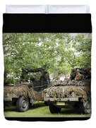 Vw Iltis Jeeps Used By Scout Or Recce Duvet Cover by Luc De Jaeger