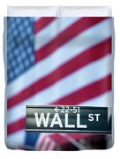 Wall Street Flag Duvet Cover