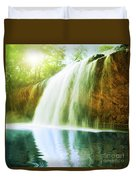 Waterfall Pool Duvet Cover