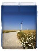 Wind Turbine, Humberside, England Duvet Cover by John Short