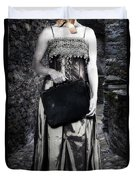 Woman In Alley Duvet Cover by Joana Kruse