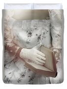 Woman With A Book Duvet Cover