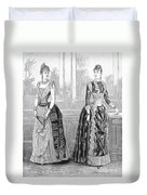 Womens Fashion, 1889. For Licensing Requests Visit Granger.com Duvet Cover