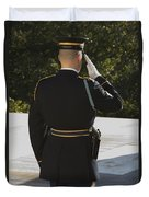 Honor Guard At The Tomb Duvet Cover