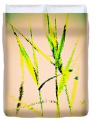 Water Reed Digital Art Duvet Cover