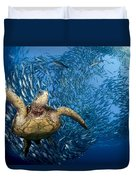 Green Sea Turtle Duvet Cover