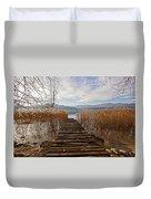 Lake Maggiore Duvet Cover
