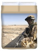 A British Army Soldier Provides Duvet Cover by Andrew Chittock