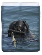 A Navy Seal Combat Swimmer Duvet Cover by Michael Wood