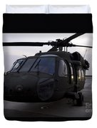 A Uh-60 Black Hawk Helicopter Duvet Cover