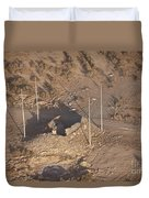 Aerial View Of A Destroyed Iraqi Duvet Cover