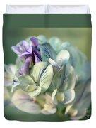 Alfalfa In Shades Of White Duvet Cover