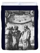 Aristotle, Ptolemy And Copernicus Duvet Cover by Science Source