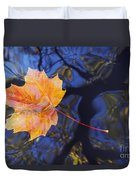 Autumn Leaf On The Water Duvet Cover