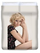 Blond Lady Duvet Cover