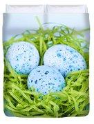 Blue Easter Eggs  Duvet Cover