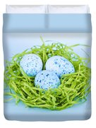 Blue Easter Eggs  Duvet Cover by Elena Elisseeva