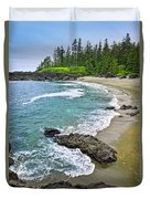 Coast Of Pacific Ocean In Canada Duvet Cover
