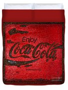 Coca Cola Classic Vintage Rusty Sign Duvet Cover