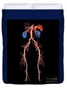 Ct Angiogram Of Abdomen And Legs Duvet Cover