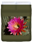 Dark Pink Cactus Flower Duvet Cover