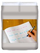 Dyslexia Testing Duvet Cover by Photo Researchers, Inc.