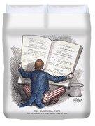 Election Cartoon, 1876 Duvet Cover