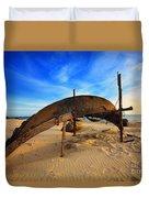 Fisherman Boat Duvet Cover
