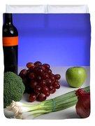 Foods Rich In Quercetin Duvet Cover